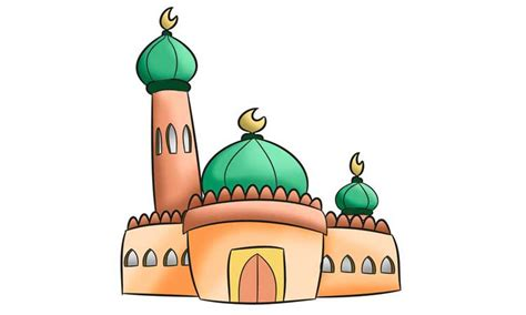 kumpulan mewarnai sketsa gambar masjid ramadhan