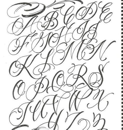 fancy letter fonts cursive letters letters for tattoos for 52186