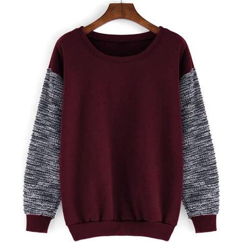Contrast Neck Sleeve T Shirt neck contrast sleeve sweatshirt 12