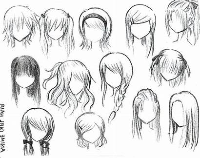 Anime Hair Drawing Hairstyles Easy Drawings Cartoon