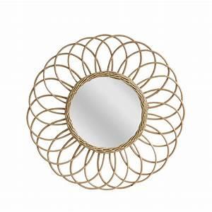 Miroir Rond à Suspendre : miroir rond osier jane hk living drawer ~ Teatrodelosmanantiales.com Idées de Décoration