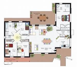 maison a l39architecture bioclimatique belle decoration With plan de belle maison 9 gite felletin