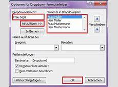 Word Formular erstellen, schützen und bearbeiten Office