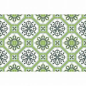 24 stickers carrelages azulejos vert lisbonne art et With carreaux de ciment vert