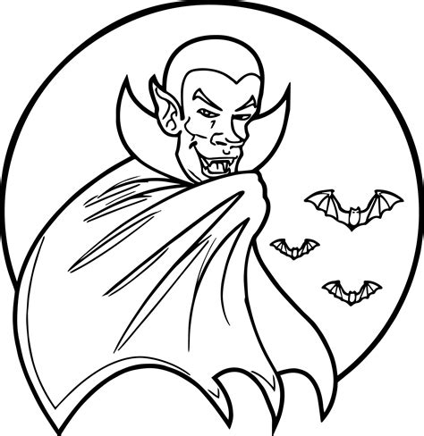 Witch With Vampire Coloring Page Vampire