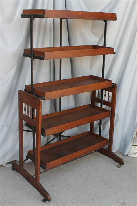 bargain johns antiques oak cast iron bakers rack  bargain johns antiques