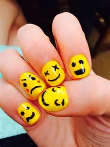 Emoji nail art the other hand my magical