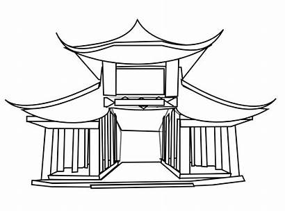 Japanese Clipart Chinese Ancient Building Architecture Dragon