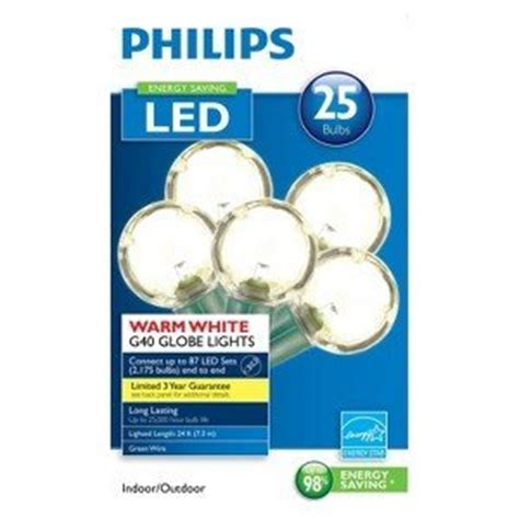philips clear globe led string lights set of