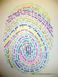 Thumbprint - introduce yourself School Art Pinterest
