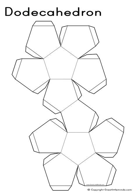 template net template 3d pentagon template net printable 3d pentagon template