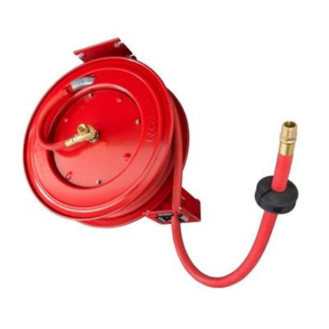tekton retractable air hose reel with 1 2 in id by 50 ft