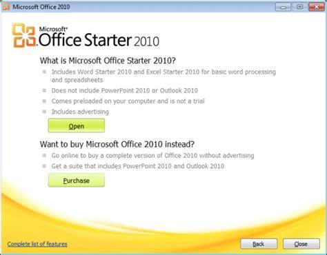 windows office starter