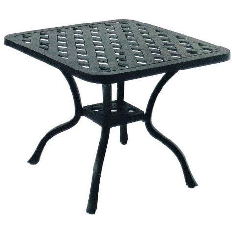 darlee series 30 cast aluminum patio end table antique