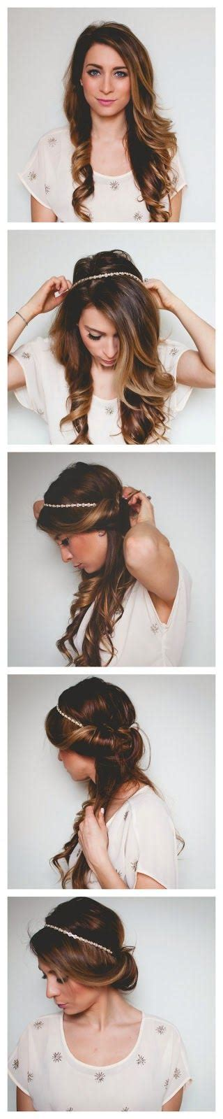 quick and easy romantic hair wrap tutorial love and sayings