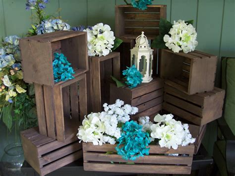 Country Vintage Weddings — Wedding Centerpiece Wood