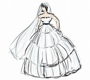 f king fantastic fashion sketches made by me With how to draw a wedding dress