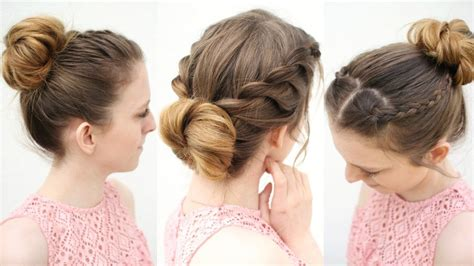 different bun styles for hair 3 easy everyday bun hairstyles work hairstyle ideas 2356