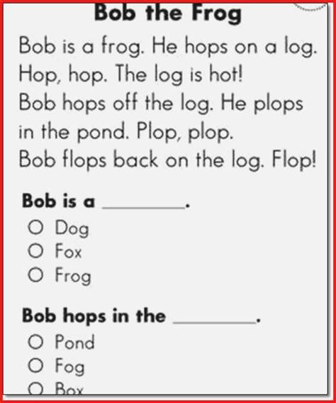 1st Grade Reading Comprehension Printables Dailypollco