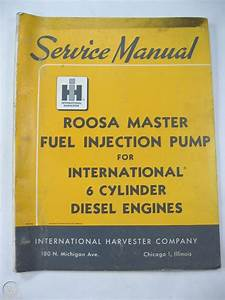 Roosa Master Fuel Injection Pump Service Manual Ih 6