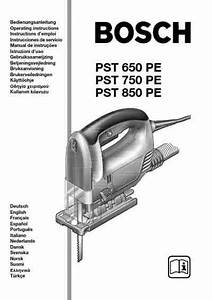 Bosch Pst 750 Pe Tools Download Manual For Free Now