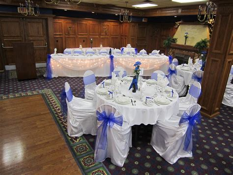 royal blue table decorations royal blue wedding set the mood decor