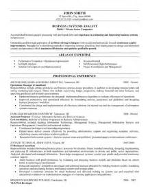 resume exles business systems analyst business or systems analyst resume