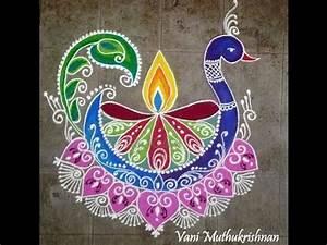 DIY Peacock rangoli design |Peacock rangoli designs for ...