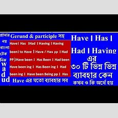 Has, Have, Had Having, Having Been এর বাংলা Use Learn English Grammar Tenses In Bangla By Wadud
