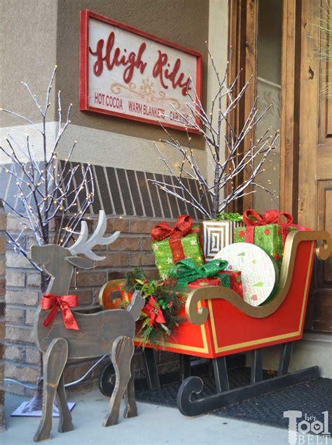 sleigh rides wood sign  tool belt