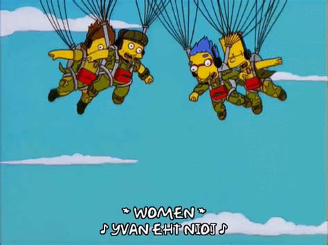 Bart Simpson Parachuting GIF - Find & Share on GIPHY