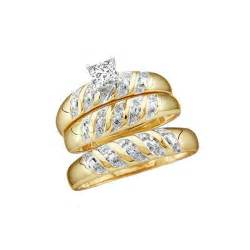 walmart wedding rings sets for him and wedding trio rings set with 1 carat total weight for him and jewelocean