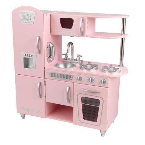 kitchen play sets kidkraft pink vintage kitchen playset 53179 the home depot