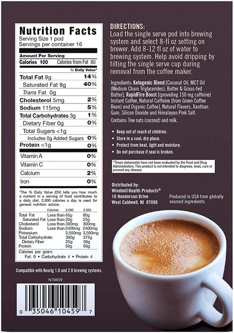 Rapid fire ketogenic fair trade instant keto coffee mix, supports energy & metabolism, weight loss, ketogenic diet 7.93 oz. Rapid Fire Caramel Macchiato Ketogenic High Performance Keto Coffee Pods, Supports Energy ...