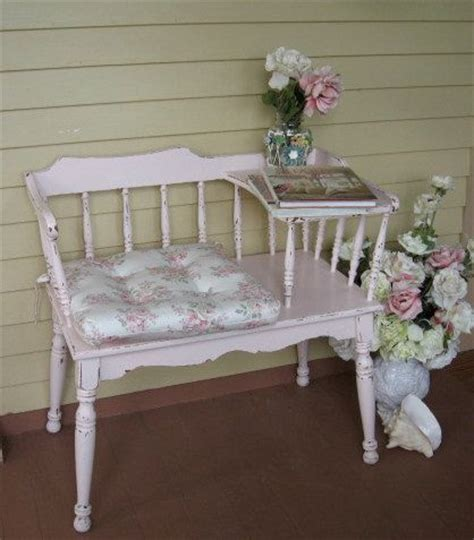 shabby chic telephone seat 108 best vintage telephone tables images on pinterest gossip bench furniture and furniture
