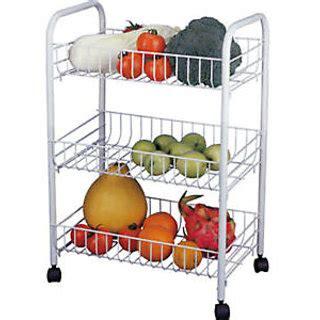 3 Tier Fruit Vegetable Storage Rack Trolley Bathroom