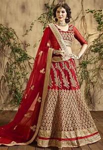 Buy Variation Red Georgette Bridal Lehenga Choli online