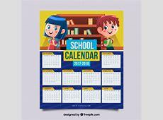 Calendario escolar 2017 2018 con niños Descargar
