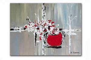 Tableau Rose Et Gris : tableau moderne rectangle gris taupe blanc cr ation unique tableau contemporain rectangle gris ~ Teatrodelosmanantiales.com Idées de Décoration