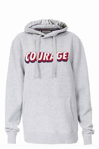 Lala Berlin Hoodie : hoodie courage mit schriftzug hellgrau roqa ~ Jslefanu.com Haus und Dekorationen