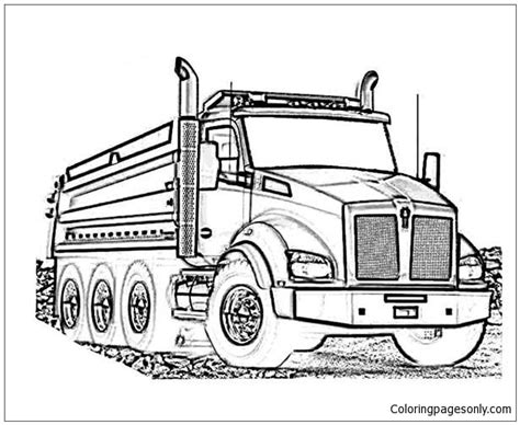 kenworth log truck coloring page  coloring pages