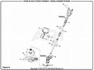 Homelite Ry40200 40 Volt String Trimmer Parts Diagram For