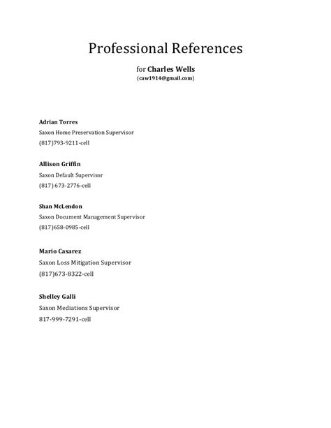 What Goes References In A Resume by Professional References