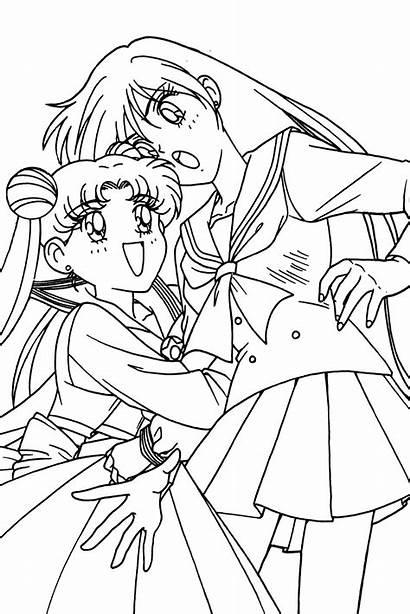 Sailor Moon Coloring Pages Usagi Getcolorings Rei