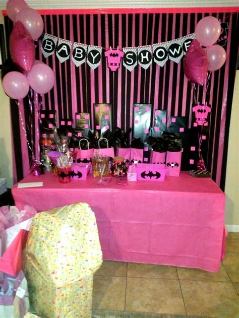 Baby Shower Ideas - batman pink baby shower theme for a baby shower batgirl