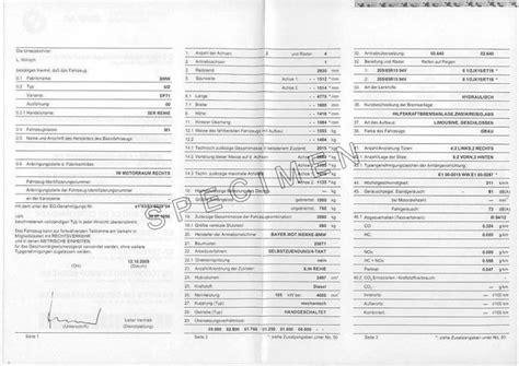 Übereinstimmungsbescheinigung Bmw Certifauto