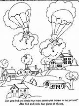 Coloring Parachute Template Skydiving Clipart Library Job Coloringhome sketch template