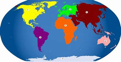 Continents Colored Clip Clipart Clker Cliparts Royalty