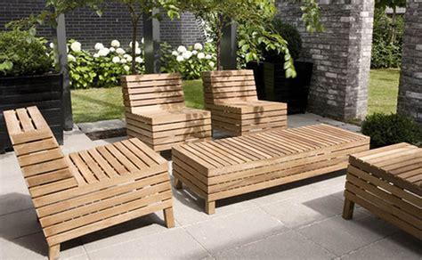 dazzling outdoor wood patio furniture   designandlab