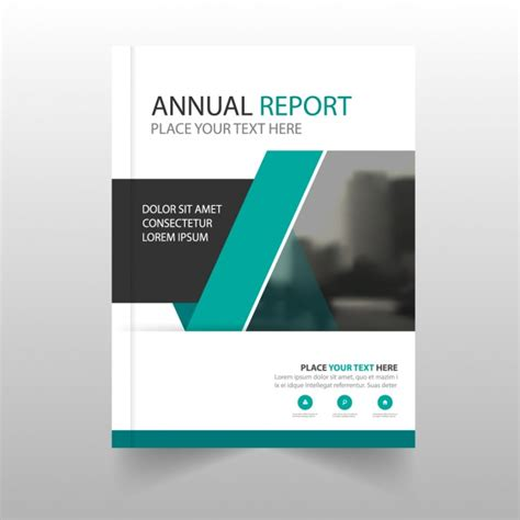 free annual report modern annual report with geometric shapes vector free